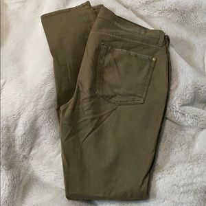 7 For All Mankind olive green jeans